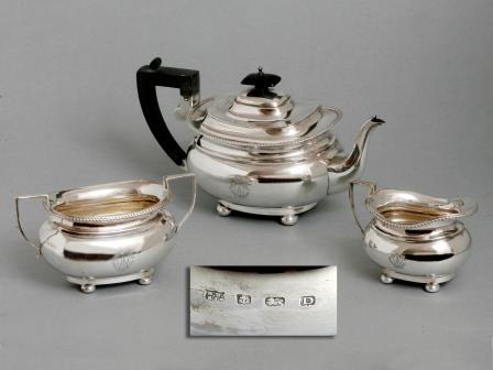George V Silver Tea Set