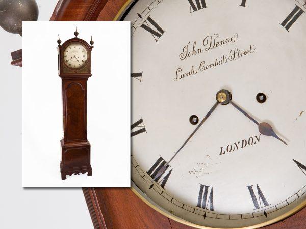 Regency Mahogany Longcase Clock