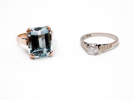 Blue Topaz Set Dress Ring