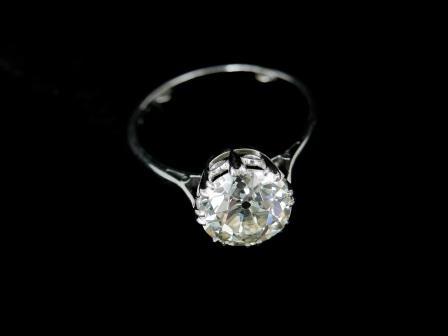 Platinum Diamond Solitaire Dress Ring