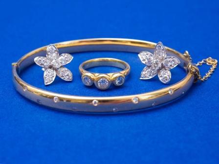 Three Stone Diamond Dress Ring