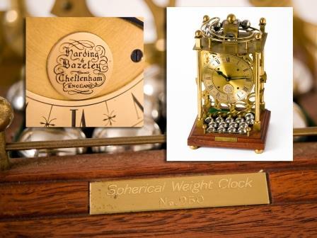 Gilt Brass Spherical Weight Clock