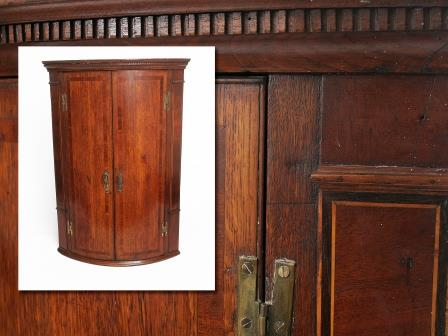 19th Century Oak Corner Cupboard