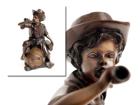 Bronze Figure of Messenger Boy