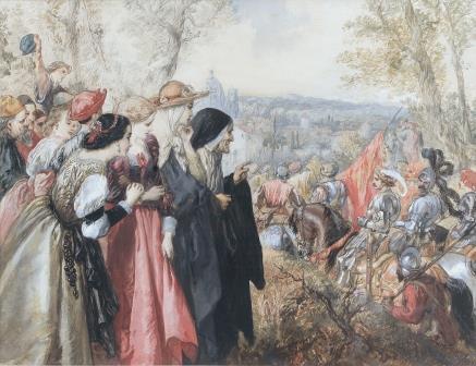 Sir John Gilbert Watercolour