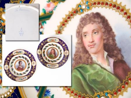 Pair of Sevres Plates