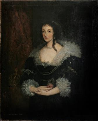 Portrait of Queen Consort Henrietta Maria.