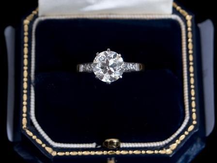 Diamond Solitaire Dress Ring