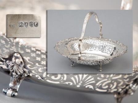 Victorian Silver Basket