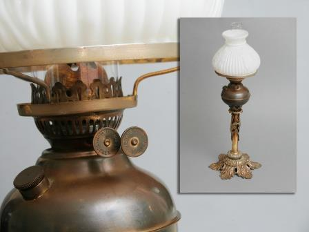 Gilt Brass Oil Lamp