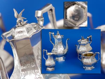 Victorian Silver Tea and Coffee Set