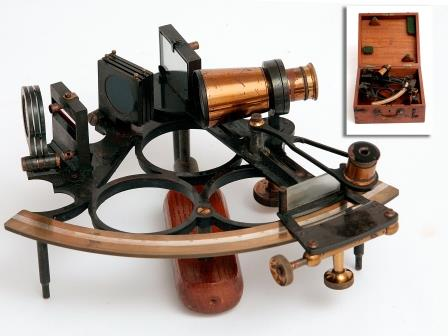 Sextant with Vernier Scale