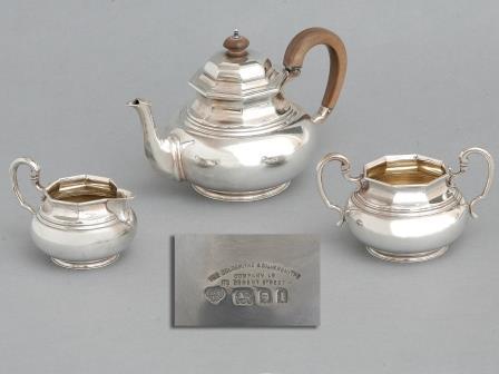 Edward VII Silver Tea Set