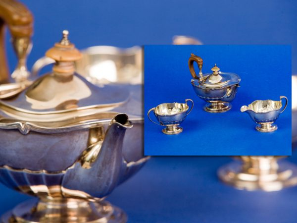 Edwardian Silver Three Piece Tea Set