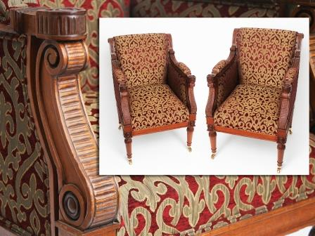 Pair of Empire Style Armchairs
