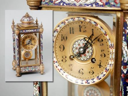 French Enamelled Clock