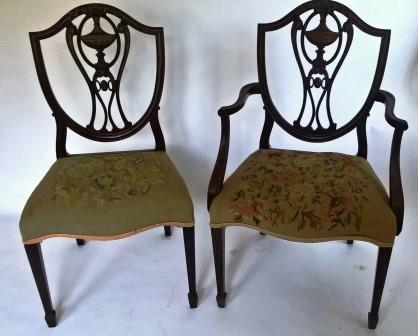 Set of Six George III Style Dining Chairs.