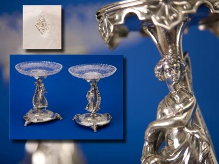Pair of Silver Plated Tazzas