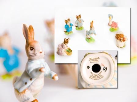 Six Beatrix Potter Figures