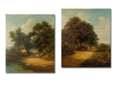 After J. Constable – A Pair of Paintings
