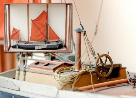 Model Thames Sailing Barge.