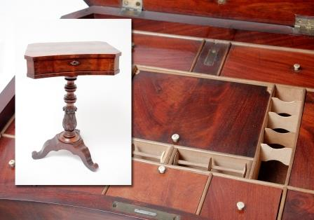 A Victorian Mahogany Work Table.