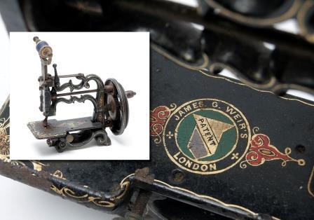 A Late Victorian Miniature Sewing Machine.