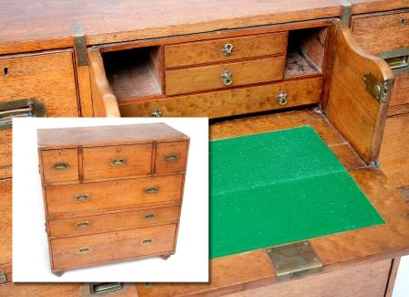 A Victorian Secretaire Military Chest.