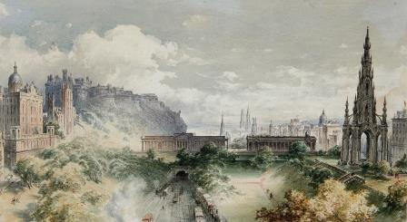 19th Century View of Edinburgh.