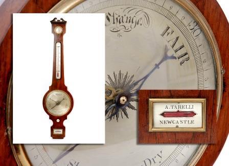Rosewood Wheel Barometer.