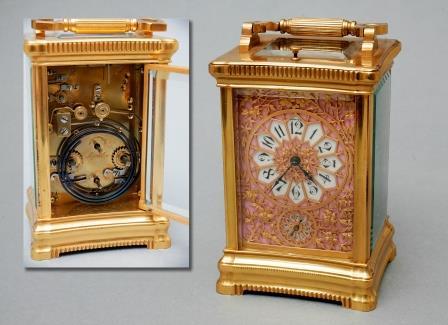Gilt Brass Carriage Clock.