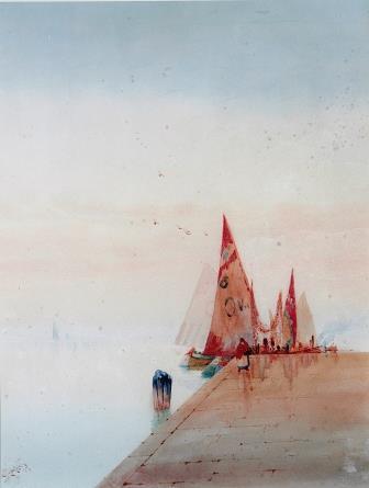 Augustus Osbourne Lamplough Watercolour.
