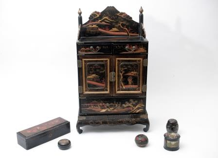 Japanese Lacquered Objects.