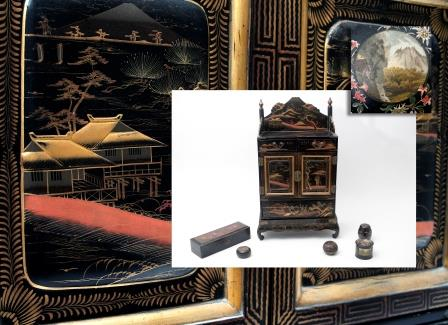 A Japanese Lacquered Table Cabinet.
