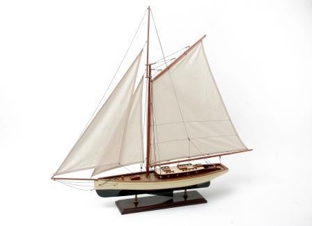 Model Gaff Rigged Yacht.