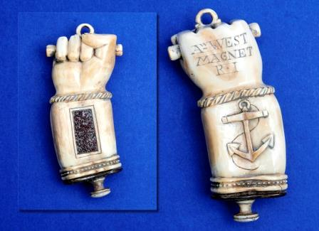 A 19th Century Scrimshaw Carved Vesta Case.