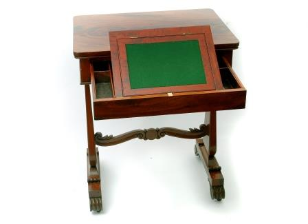 A Late Regency Lady's Writing Table.