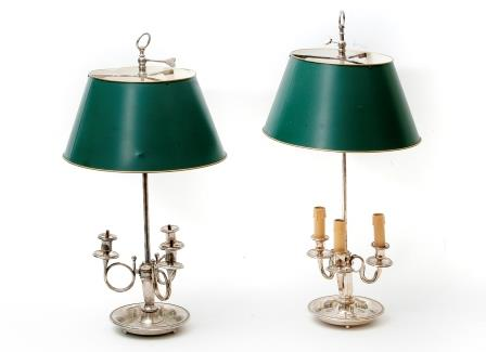 Two Silver Plated Lamps.