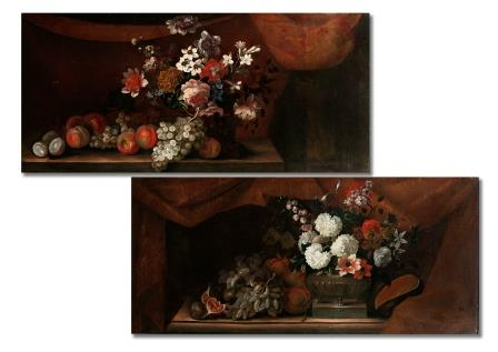 Studio of Pieter Casteels, Pair of Paintings.
