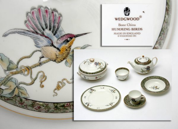 Wedgwood Humming Bird Pattern Part Dinner Service.