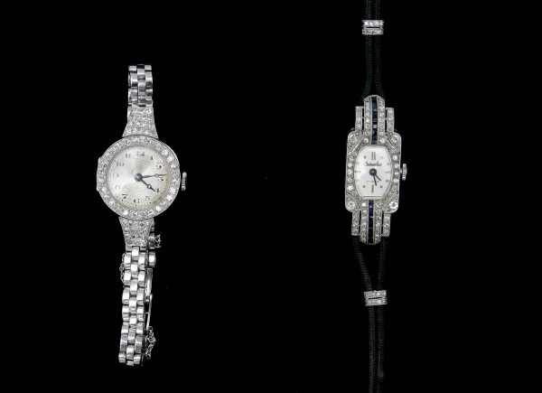 A Lady's Platinum Cocktail Watch.