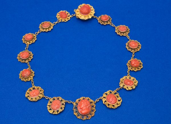 Victorian Yellow Metal Necklace.