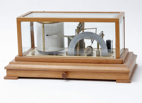 A Barograph, in Oak Case.