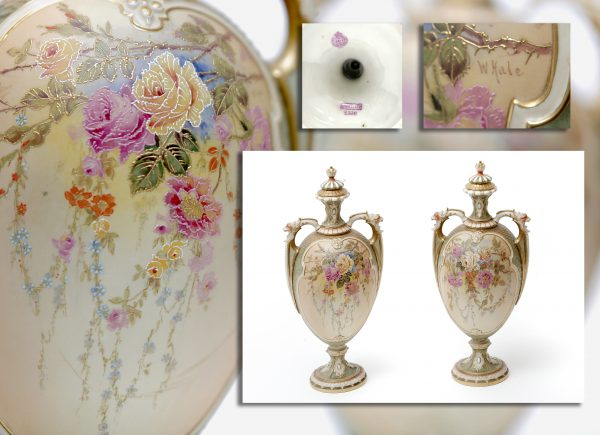 Pair of Royal Worcester Vases.