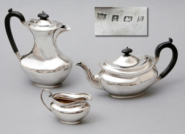 An Edward VIII/George VI Silver Part Tea-Set.