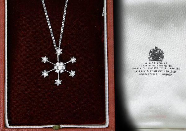 Snowflake Design Pendant.