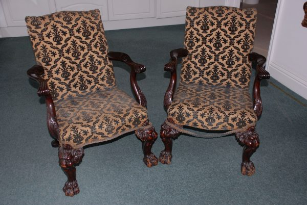 Pair of Child's Size Elbow Chairs.