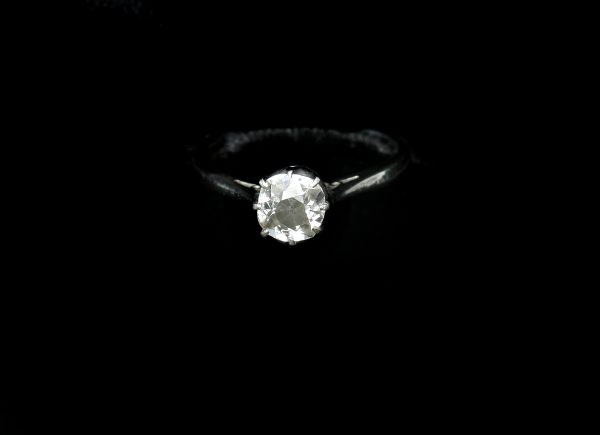 Platinum Solitaire Dress Ring.