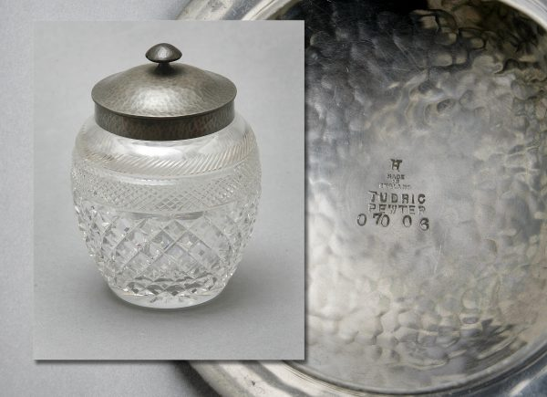 A Cut Glass Biscuit Barrel.
