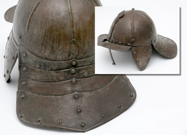 A 17th Century Lobster Tail Helmet.